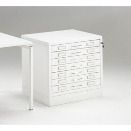 Chest of drawers Metallic Draftech format A2 7 Drawers