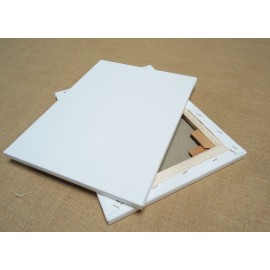 FAM-Confezione Due Tele 100x100 100% Cotone Telaio 33mm