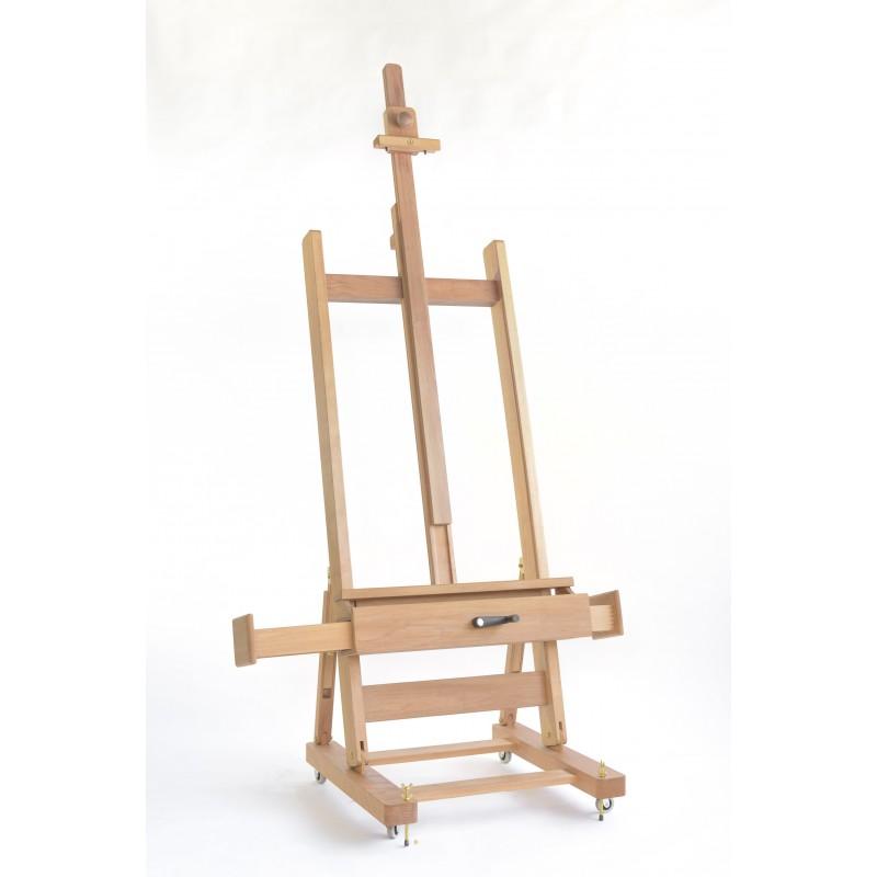 Cavalletto pittore da studio a manovella con ruote vendita esclusiva online - Cavalletto da pittore da tavolo ...