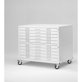 Draftech Premium -Metallic Drawers with wheels size A1 10 Drawer