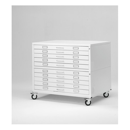 Metallic Drawers with wheels size A1 10 Drawer Draftech