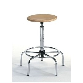 Designer stool High - Beech and Steel