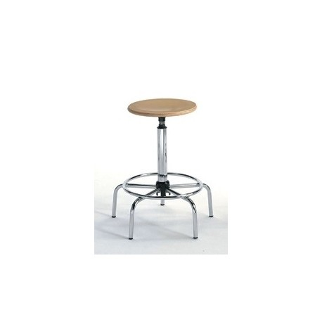 Designer stool High - Beech and Steel