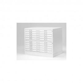 Metallic Drawer Draftech - 10 Drawers DIN A0