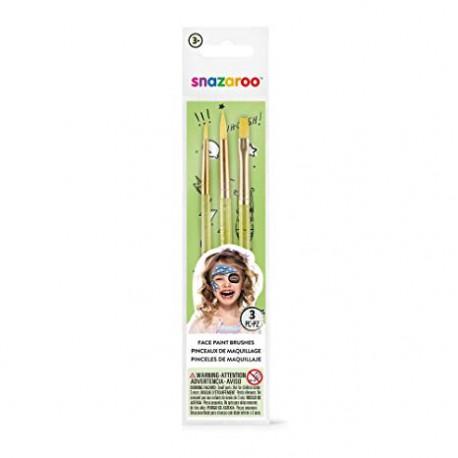 Snazaroo- Confezioni tre Pennelli per il Trucco Facciale