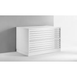 Draftech Basic - Cassettiera A0 -10 Cassetti - Bianco