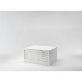 Draftech Basic - Cassettiera A1 -5 Cassetti - Bianco