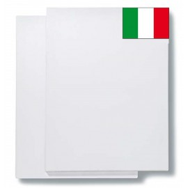 FAM-Pack of 2 Canvases - 50x100 cm 17 mm Section 100% Cotton Made in Italy