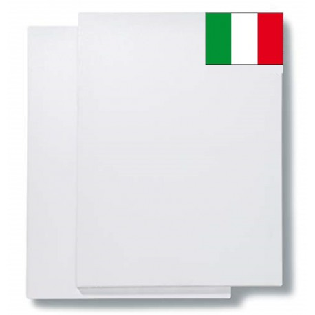 FAM-Pack of 2 Canvases - 80x120 cm 17 mm Section 100% Cotton Made in Italy