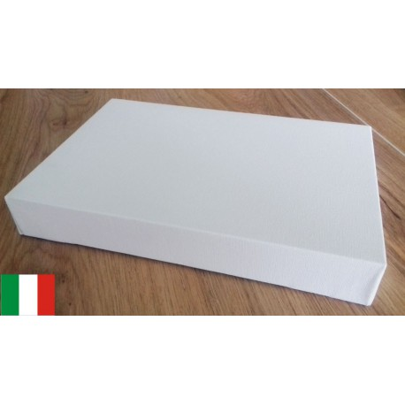 FAM - 4 Canvases 20x30cm - Cotton - 44mm Frame - Made in Italy
